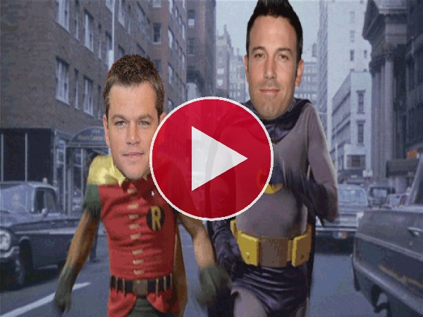 "GIF: Ben Affleck y Matt Damon son ""Batman y Robin"""