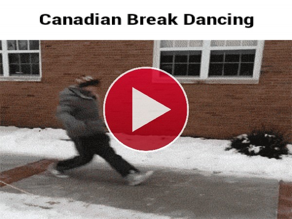 Un canadiense bailando Break Dance