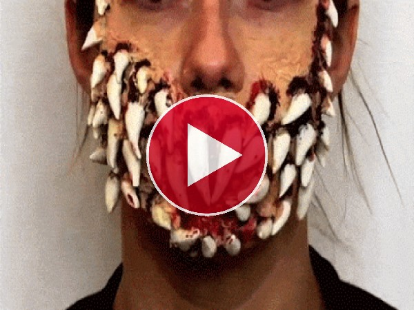 GIF: Maquillaje monstruoso