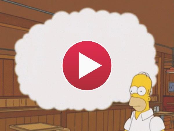 GIF: Homer soñando despierto