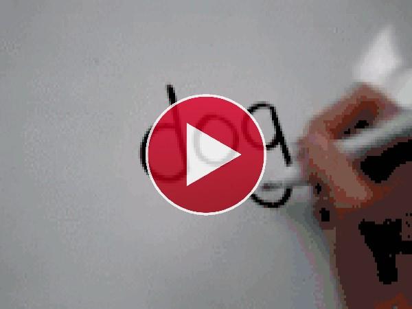 GIF: Dibujando la cara de un perro