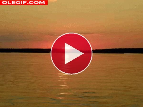 GIF: Un magnifico amanecer