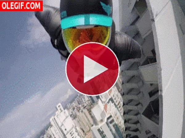 GIF: Volando por la ciudad