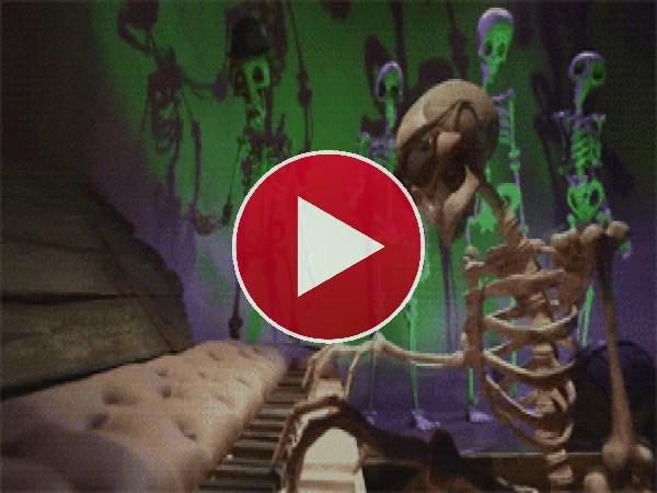GIF: Unos esqueletos muy fiesteros