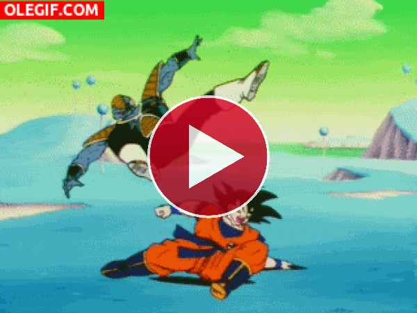 GIF: Goku en una batalla de Break Dance