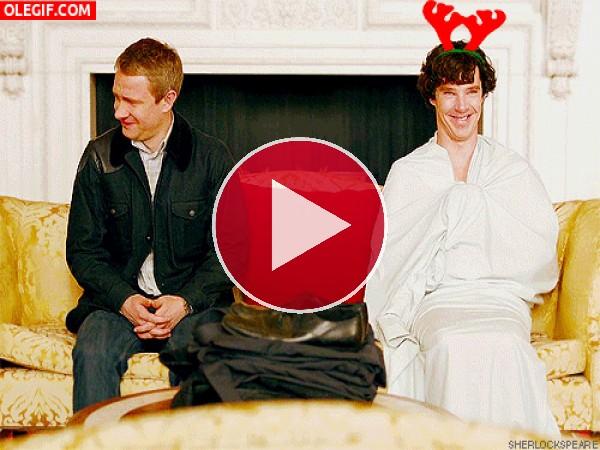 GIF: Risas en Navidad