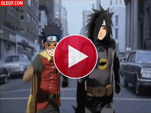 """GIF: Estos personajes de Naruto son los nuevos """"Batman y Robin"""""""