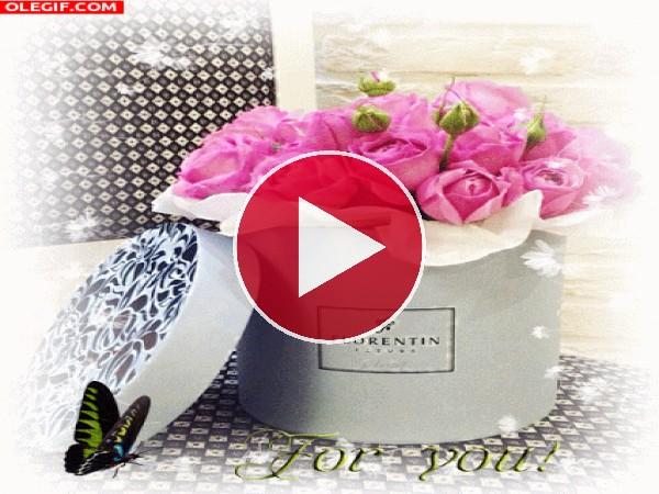 GIF: ¡Rosas para ti!