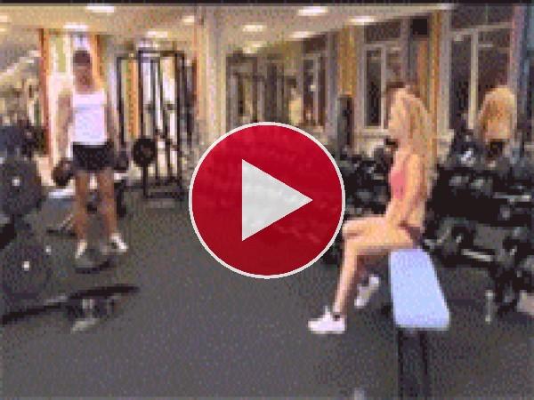 GIF: Ligando en el gimnasio
