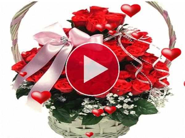 GIF: Flores para San Valentín