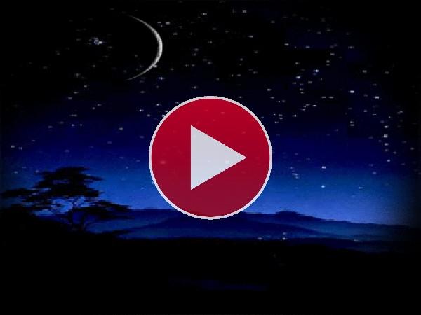 GIF: Estrella fugaz en la noche