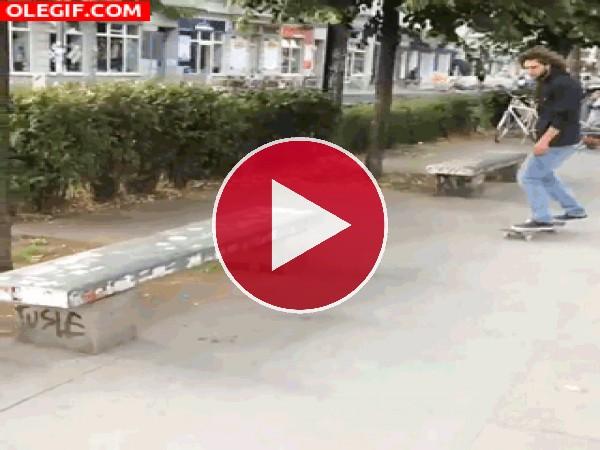 GIF: Controlando bien el skate