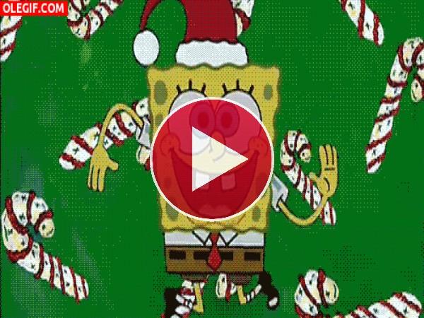 A Bob Esponja le gusta la Navidad