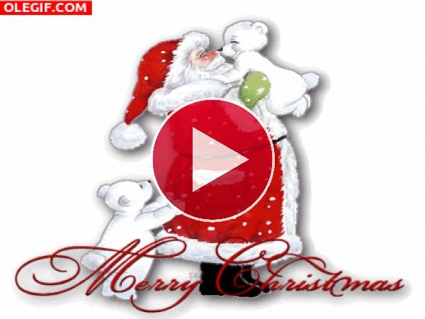 GIF: Una bonita felicitación para Navidad