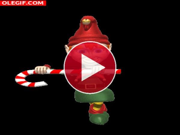 GIF: El divertido baile del duende navideño