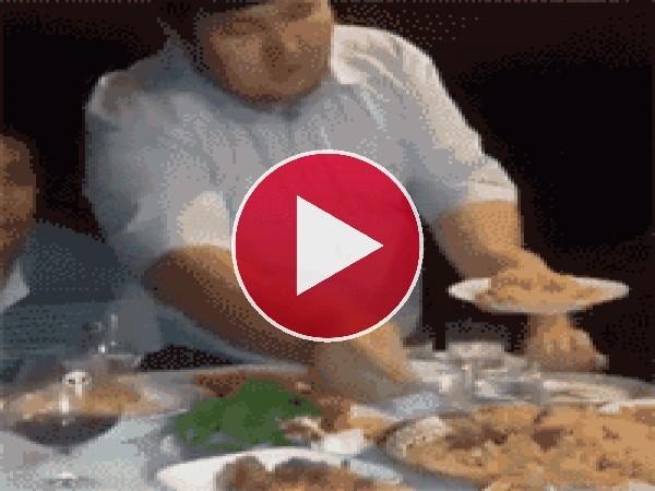 Más fácil coger el plato grande