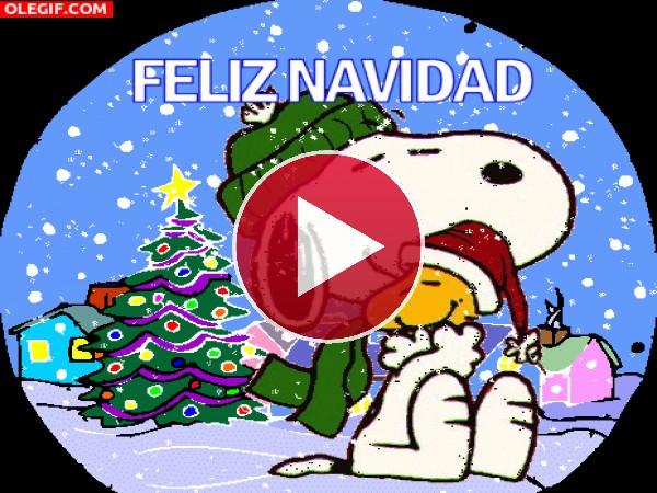 """GIF: Snoopy te desea """"Feliz Navidad"""""""