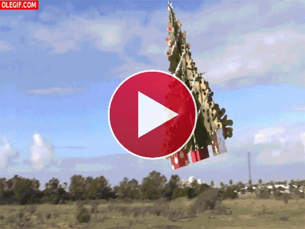 GIF: Árbol de Navidad teledirigido