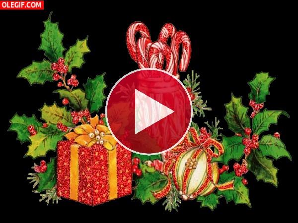 GIF: Adornos navideños