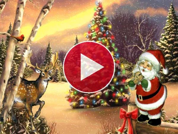 GIF: Música en Navidad