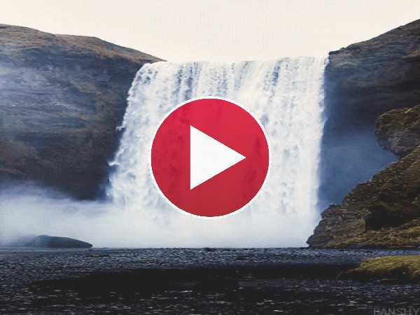 GIF: Cascada cayendo con fuerza