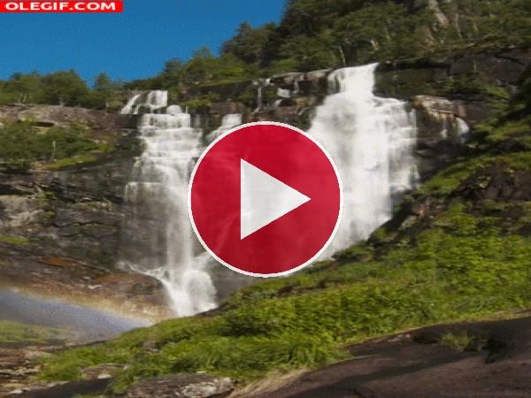 GIF: Contemplando la cascada