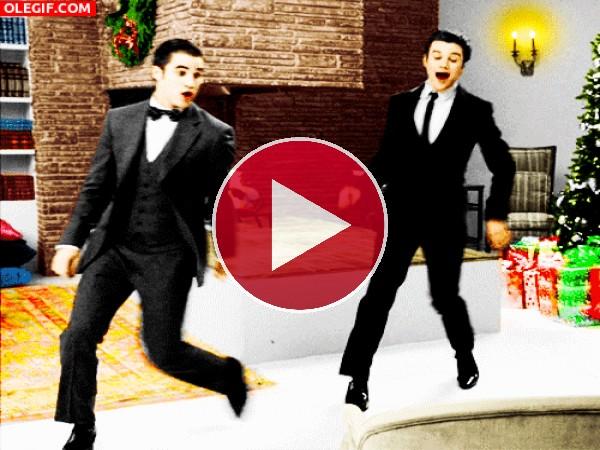 GIF: Bailando en Navidad