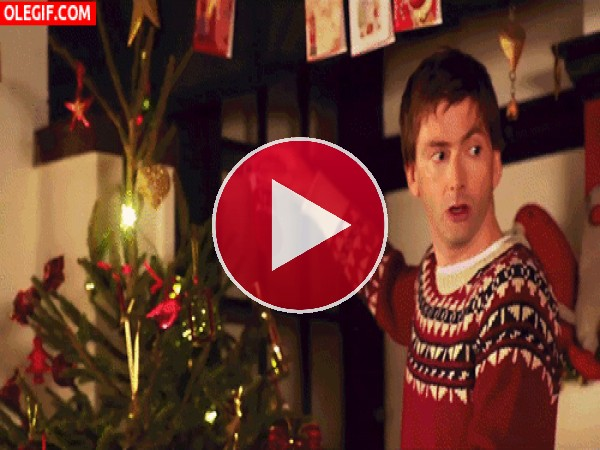 ¿Donde pongo el adorno navideño?