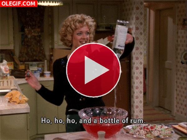 GIF: Ho, ho,ho que corra el alcohol