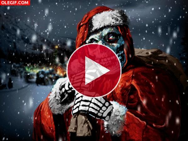 GIF: La verdadera cara de Papá Noel
