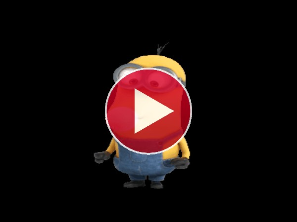 GIF: Un Minion haciendo una gran pompa