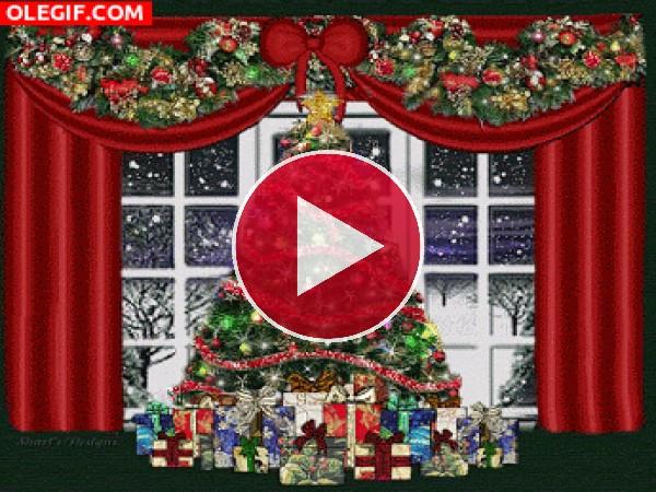 GIF: Árbol de Navidad iluminado