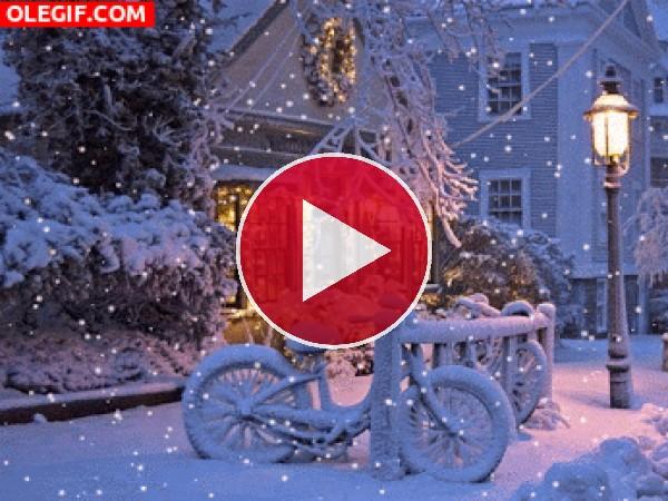 GIF: Nevando en Navidad