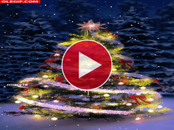 GIF: Un bonito árbol de Navidad