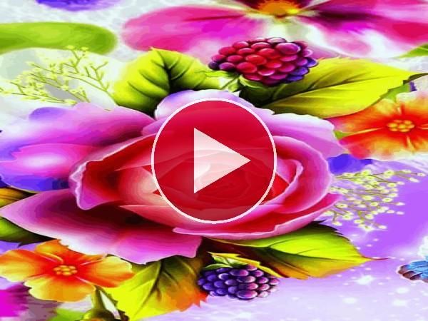 GIF: Flores y mariposas