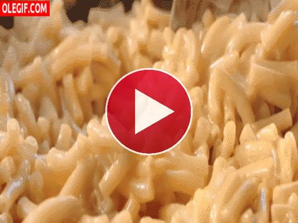 GIF: Macarrones con queso