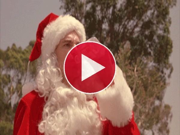 Papá Noel tubo un mal día