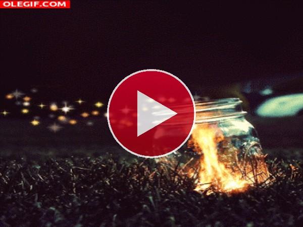 GIF: Fuego en un bote