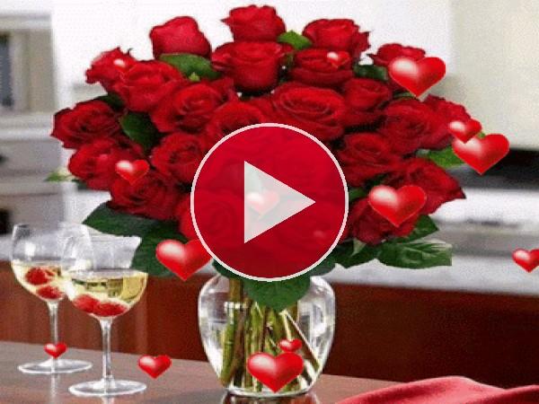GIF: Flores para el Día de San Valentín