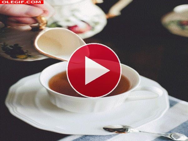 GIF: La hora del té