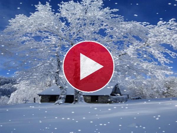 GIF: Caen copos de nieve