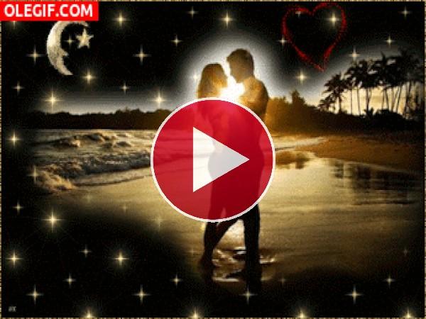 GIF: Amor bajo las estrellas
