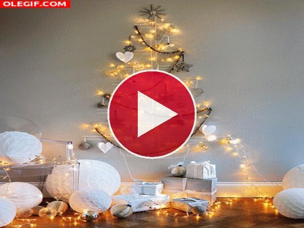 GIF: Original árbol de Navidad