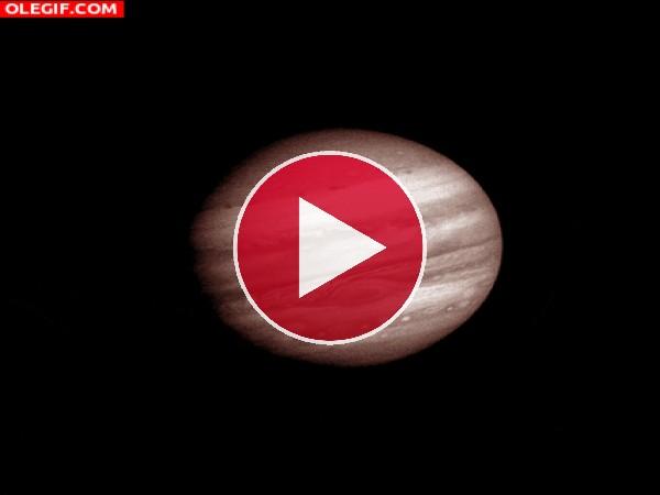 GIF: Imagen en movimiento de Júpiter