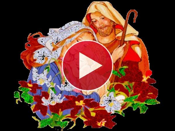 GIF: La Virgen María, San José y el Niño Jesus