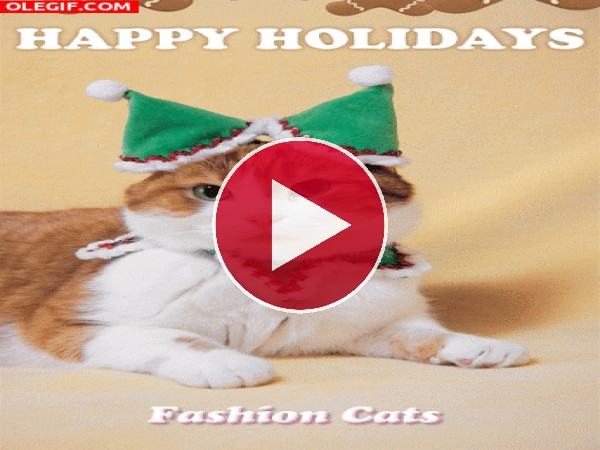 GIF: Felices fiestas navideñas