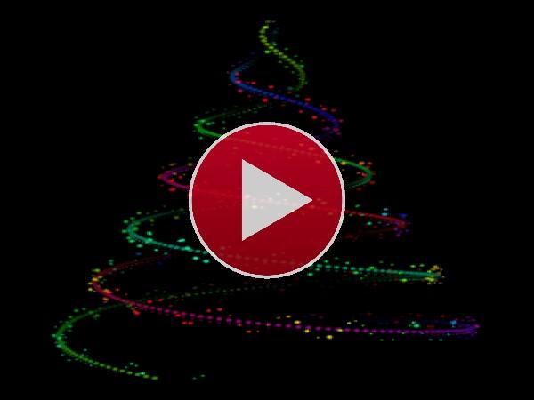 GIF: Brillante árbol de Navidad