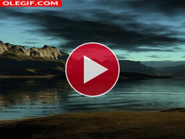 GIF: Movimiento en el agua del lago