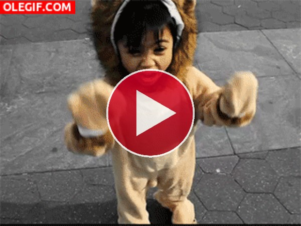 GIF: El rugido del león