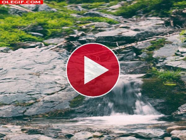 GIF: Riachuelo entre las rocas